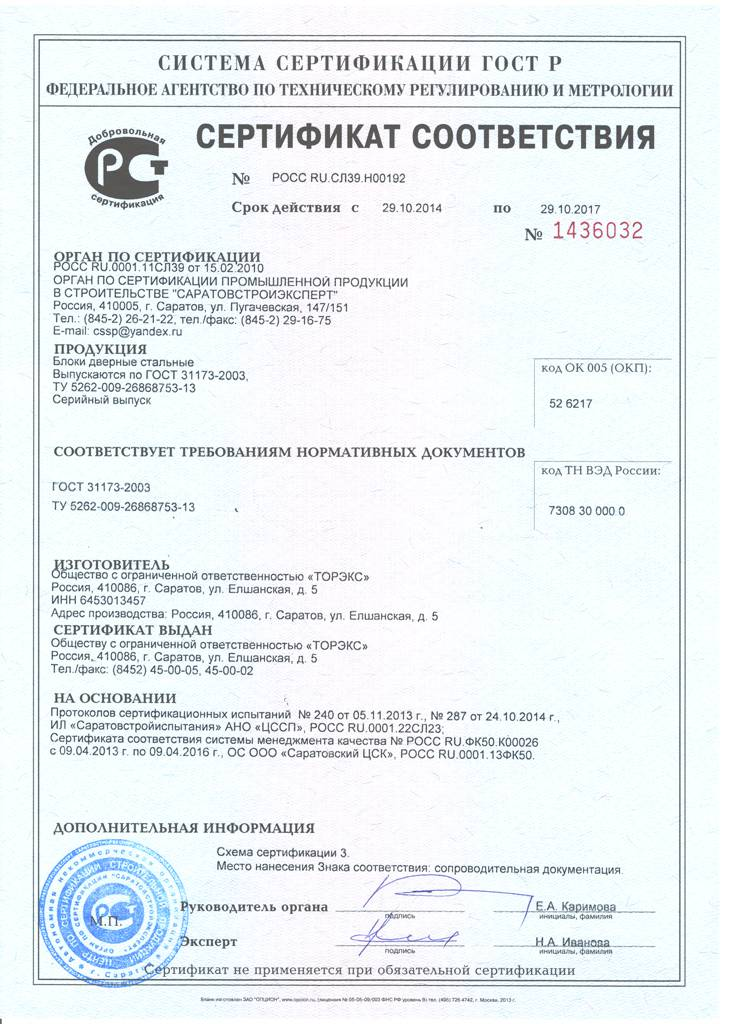 сертифицированные металлические двери