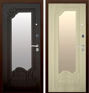 дверь с зеркалом ольга ларче и венге
